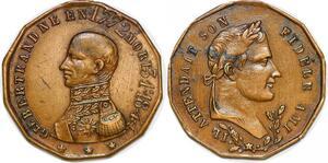 P1371 Rare Médaille Général Bertrand fidèle ami Napoléon I 1772 1844 ->F offre