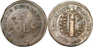 P1402 Germany Siege Mainz Mayence 5 Sols Friedrich Karl Joseph 1793 ->M offer