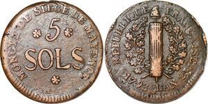 P1403 Germany Siege Mainz Mayence 5 Sols Friedrich Karl Joseph 1793 ->M offer