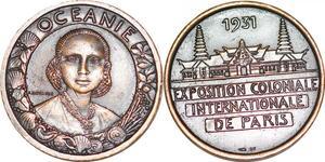 P1433 Médaille Exposition Coloniale Paris 1931 Mouroux SPL ->Faire offre
