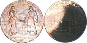 P1434 Médaille Souvenir Exposition Monnaie de Paris Argent & Or ->Faire offre