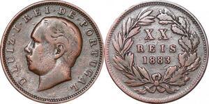 P1435 Portugal 20 reis Luiz Ier 1883 ->Make offer