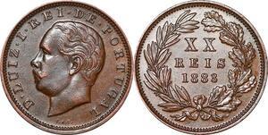 P1436 Portugal 20 reis Luiz Ier 1883 ->Make offer