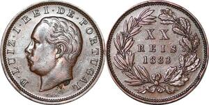 P1437 Portugal 20 reis Luiz Ier 1883 ->Make offer