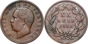 P1440 Portugal 20 reis Luiz Ier 1884 ->Make offer