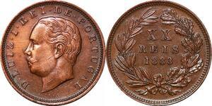 P1443 Portugal 20 reis Luiz Ier 1883 AU ->Make offer