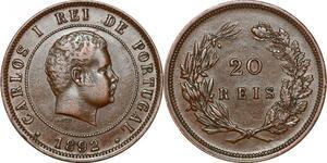 P1446 Portugal 20 Reis Carlos I 1892 AU ->Make offer