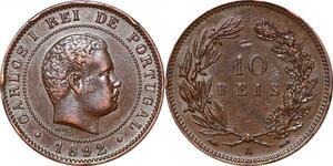 P1452 Portugal 10 Reis Carlos I 1892 A AU ->Make offer