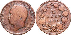 P1453 Portugal 10 Reis Luíz I 1884 ->Make offer