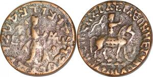 P1469 India Scythian Kingdom Pakistan Azes I 57 35 BC Tetradrachm Taxila