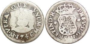 P1485 Mexico 1/2 Real Fernando VI 1746 Mo Mexiko City Silver -> Make offer