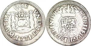 P1490 Mexico 1/2 Real Carlos III 1771 Mo Mexico City F Silver -> Maker offer
