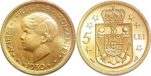 P1504 Romania 5 Lei Mihai I 1930 UNC -> Make offer