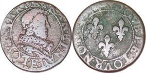 P1522 Louis XIII double tournois E Tours ->Faire offre