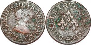 P1527 Double Tournois Louis XIII 1612 ->Faire offre