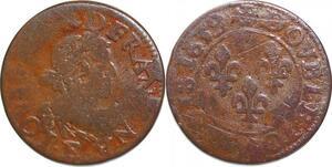 P1530 Double Tournois Louis XIII 1639 E Tours ->Faire offre