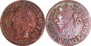 P1533 Double Tournois Louis XIII 1643 A Paris  ->Faire offre