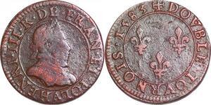 P1534 Double Tournois Henri III 1583 A Paris  ->Faire offre