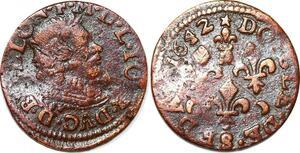 P1550 Frédéric-Maurice de La Tour double tournois 1642 Sedan
