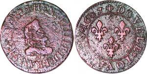 P1561 Henri IV double tournois 1er type 1607 D Lyon ->Faire offre