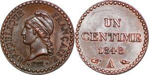 P1576 Rare Un Centime Dupré 1848 UNC SPL
