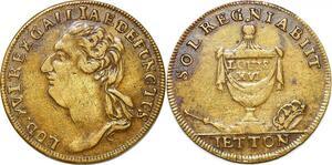 P1620 France Token Louis XVI Sol Regnia biit 1774 1793 - Make offer