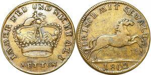 P1625 Token Nurnberg Messing Rechenpfennig 1802 Reich Frisch Mit Gewalt