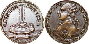 P1634 Jeton Token Louis XVI Omnibus Non Sibi 1791 Reich -> Make offer