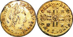 P1641 Très Rare Faux Epoque 1/2 Louis d'or mèche longue A Paris ->Faire offre