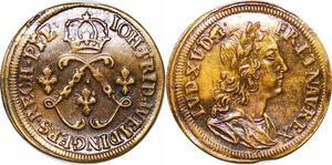 P1643 Jeton Token Louis XV aux