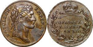 P1652 Jeton Louis XVI 1774 1793 Napoléon Empereur Sacre 23 Nov 1804 SUP