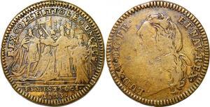 P1656 Jeton Louis XV Sacre à Reims 1723 ->Faire offre