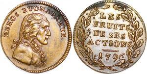 P1665 Rare Jeton Token Héros Napoléon Bonaparte 1796 Fruits actions SUP