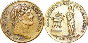 P1672 Jeton Honneur et Patrie Couronnement Napoléon an 13 1804 ->F offre