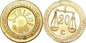 P1676 Jeton Token J Thieux Balance 20 Centimes FDC ->Faire offre