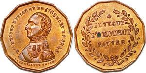 P1681 Médaille Drouet Erlon 1765 1844 Il vecut et Mourut Pauvre Ville Reims SPL