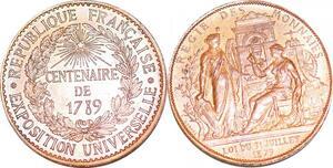 P1684 Médaille Exposition Universelle 1789 Regie et Monnaies Paris 1879 FDC