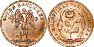 P1688 Rare Médaille Bonne Renommée Sa modestie se fait craindre Rose SUP