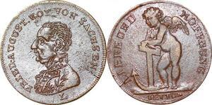 P1691 Medal Friedrich August Koenig Von Sachsen Liebe und Hoffnung AU