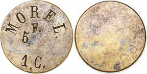 P1704 5 Francs Morel 1 Centime Uniface ->Faire offre