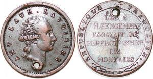 P1722 Rare Essai Consulat A-L de Lavoisier 1743-1794 an 9 1801 Andrieu