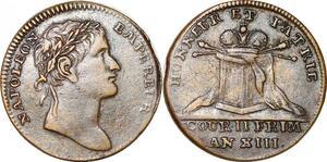 P1735 Jeton Napoléon I er couronnement an XIII 1804 -> Faire offre