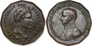 P1737 Médaille Napoléon Ier Ami Général Bertrand 1772 1844 SUP