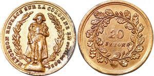 P1738 Médaille Napoléon remplacé Colonne Juillet 20 Jeton 1833 SUP