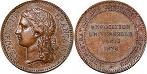 P1751 Rare Médaille Exposition Universelle Administration Monnaies 1878 SUP