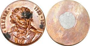 P1754 Médaille Général Kleber Vendée Strasbourg Caire 1753 1800 SUP