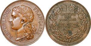 P1756 Médaille Exposition Universelle Administration Monnaies 1878 SUP