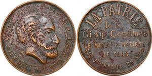 P1757 Médaille XIX Patrie 5 Centimes le mieux renseigné Journaux du Soir