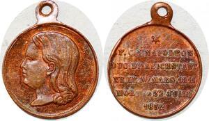 P1759 Médaille Charles Joseph Bonaparte Duc de Reichstadt 1811 1832 SPL