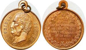 P1760 Médaille Prince Jérôme Bonaparte Ajaccio 1784 1860 Roi Wesphalie SPL